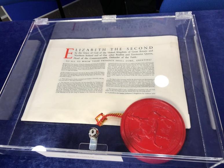 Royal charter of the Open University (United Kingdom) Daniel Weinbren/Wikimedia, CC BY-NC-SA