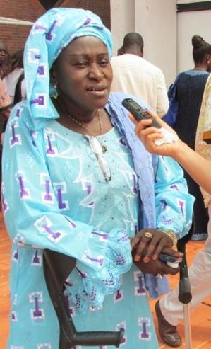 Ndèye Dagué Gueye,Présidente nationale du Comité des femmes de la Fédération sénégalaise des Associations des personnes handicapées du Sénégal. Photo (c) AT