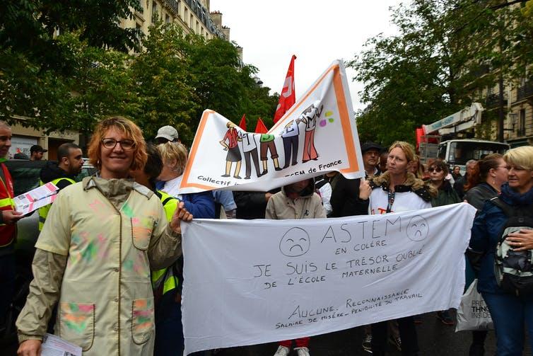 ATSEM lors d'une manifestation contre le projet de réforme des retraites (Paris, septembre 2019). Paule Bodilis/Wikimedia