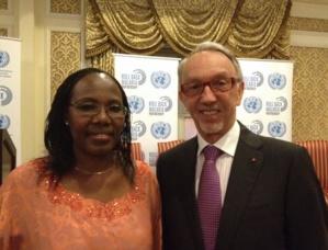 José Badia accompagné de Fatoumata NAFO-TRAORE, Directeur Exécutif du  Roll Back Malaria Partnership. Photo (c) DR
