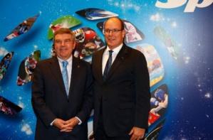 S.A.S le Prince Albert II de Monaco et de Thomas Bach, Président du CIO. Photo (c) DR