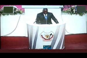 Président Joseph Kabila  devant le congrès ce 23 octobre. Photo (c) Blaise Sanyila