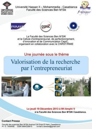 Maroc: Valorisation de la recherche par l'entrepreneuriat