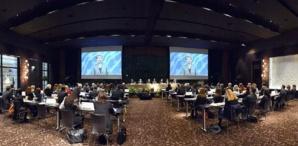 Discours vidéo de Mme Irina Bokova, Directrice Générale de l'UNESCO, à l'ouverture du Colloque de Haut niveau relatif aux droits de l'enfant. Photo (c) Charly Gallo / CDP