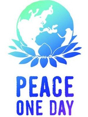Logo de l'Association Humanitaire Peace One Day qui oeuvre pour la paix dans le  monde et le choix du 21 septembre comme jour de symbole de paix