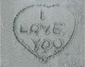 Mon coeur te dit I love you. Photo libre de droits.