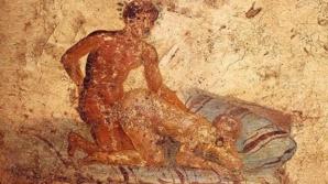 Détail de Casa del ristorante, fresque de Pompei (environ 62-79 avant JC).