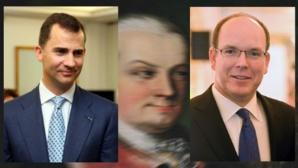 Philippe VI et Albert II, avec, au fond, leur ancêtre commun Karl Ludwig von Baden. Photos (c) Michał Koziczyński et David Sifry. Image (c) PJ