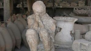 Homme pétrifié à Pompéi. Photo © Virginie Dubreuil