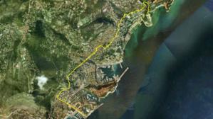 Vue de Monaco par satellite. Image du domaine public.