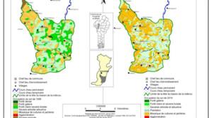 Evolution de l'occupation du sol au niveau de la tête du bassin entre 1998 et 2014