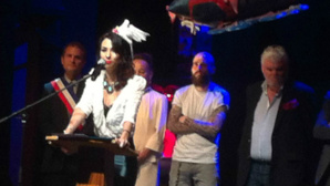 Aurélia Mengin lors de la soirée d'ouverture. Photo: Angélique Mussard