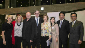 De gauche à droite: Sylvie Cristin, Corinne Kiabski, Jean-Christophe Maillot, S.E. Patrick Médecin, Kumi Iwamoto, Hiroharu Okamoto, Irokazu Ito. Photo (c) DR