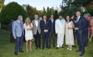De gauche à droite: Francisco Granero (Consul général à Barcelone), Mme Cavanillas, M. Evelio Acevedo, Président de la Fondation Thyssen-Bornemisza, M. Cavanillas, M. Iñigo López de La Osa, M. Kamal Fabiani Mme Anne-Marie Van Klaveren, S.E. M. Jean-Luc Van Klaveren. Photo (c) DREC