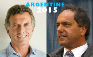 Les deux candidats à la présidence argentine. Photo de Mauricio Macri (c) Inés Tanoira. Photo de Daniel Scioli (c) Presidencia de la Nación Argentina.