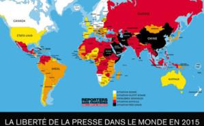 Classement de la liberté de la presse selon Reporters sans frontières.  © RSF