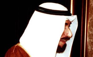 Cheikh Jaber Al Ahmad Al Jaber Al Sabah, 13e Emir du Koweït de 1977 à 2006. Image du domaine public.
