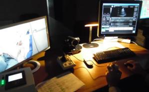 A l'autre bout du terminal, le cardiologue analyse les résultats de l'échographie. Photo (c) DR