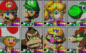 Figures en pixel art (c) Sunny Cloray