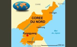 Carte de la Corée du Nord. Photo libre de droits