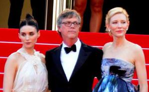 Rooney Mara, Todd Haynes et Cate Blanchett lors de la présentation du film au festival de Cannes 2015. Photo (c) Georges Biard