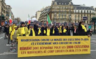 Manifestation contre la montée des exécutions en Iran. Paris, 28 janvier 2016. Photo © O. Lynda