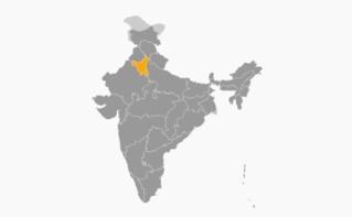 Localisation de l'État en Inde. Illustration (c) Superbenjamin