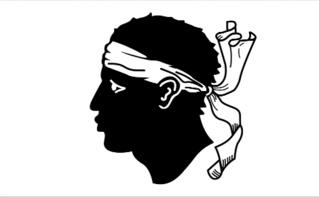 Drapeau corse. Image libre de droits.
