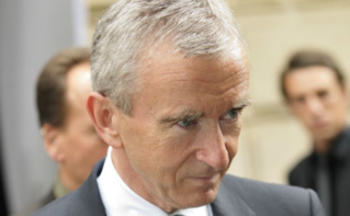 Bernard Arnault, à la tête du leader mondial de luxe LVMH à racheté Le Parisien pour gagner en influence. Photo (c) Nicolas Genin