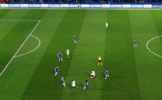 L'équipe du PSG lors du match contre Chelsea, en mars 2016. Photo (c) Ben Sutherland