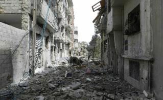 Homs, ville et centre industriel et économique de la Syrie, dévastée par cinq ans de guerre. Photo (c) Bo Yaser.