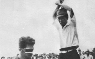Photo archive d'une exécution au Japon en 1943. Image du domaine public.