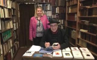 Florence Bardon aux côtés du poète Stephen Blanchard le 6 avril 2016. Photo (c) Sarah Belnez.