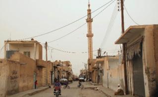 Centre de Raqqa en 2009, avant que la ville passe sous contrôle de l'organisation Etat islamique. Photo © Bertramz