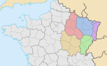La région française Grand Est. Illustration (c) Bayo