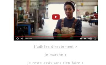 """Capture d'écran du site du nouveau mouvement politique """"En Marche"""". Cliquez ici pour y accéder."""