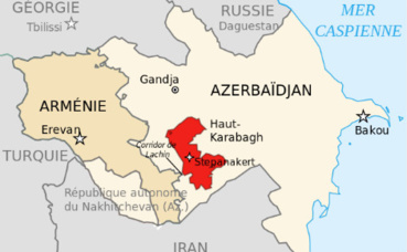 Carte du Haut-Karabakh. Illustration (c) Bourrichon