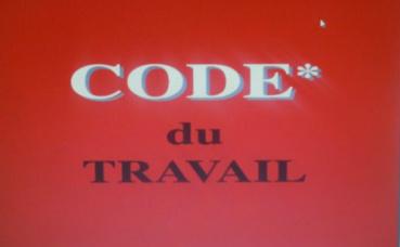Code du travail. Capture écran par N. Ait Ahcene. Cliquez ici pour consulter le pdf