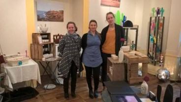 De gauche à droite, Lauriane Ballay, Alexandra Echailler Pensier et Lucie Lepetz. Photo (c) Sarah Belnez.