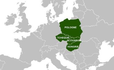 Carte de l'Europe centrale. Image du domaine public.