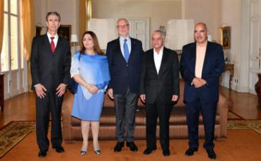 Les représentants du Quartet du Dialogue national tunisien étaient en visite à Monaco, les 7 et 8 juillet 2016*. Photo (c) Charly Gallo / DC