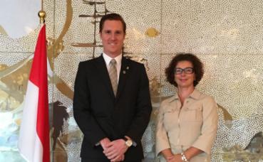 Hadrien Bourely, Consul honoraire à Sydney et S.E. Mme Catherine Fautrier, Ambassadeur de Monaco en Australie. Photo courtoisie © DR