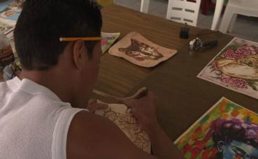 David Guizman, détenu à Tulancingo participe au programme. Capture écran de la vidéo ci-dessous.