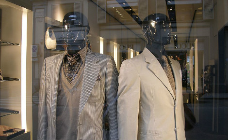 Vitrine d'une boutique Saint-Laurent. Photo (c) Argenberg