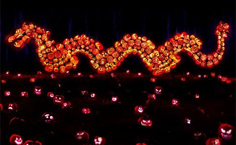 Dragon en citrouilles. Photo (c) Rise of the Jack O'Lanterns
