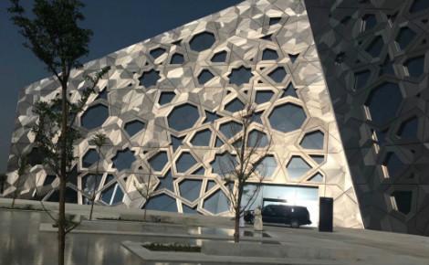 Entrée de la salle d'opéra du centre culturel Cheikh Jaber Al Ahmad à Koweït City. Photo (c) Bulent Inan.