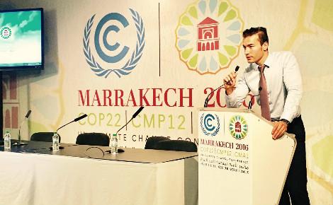 Hassad, directeur de Wedge à la COP22 de Marrakech, Maroc. Photo courtoisie (c) DR.