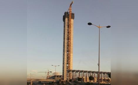 Mosquée El Djazair, projet pharaonique: coût estimé à plus de 2 milliards de dollars. Photo (c) Naima Ait Ahcene