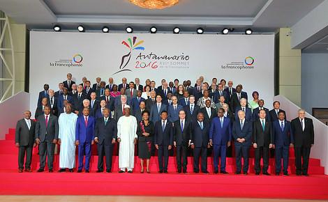 16e sommet de la Francophonie à Antananarivo, Madagascar. Photo (c) OIF. Cliquez ici pour accéder au site