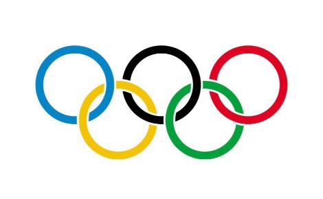 Drapeau olympique. Image du domaine public.